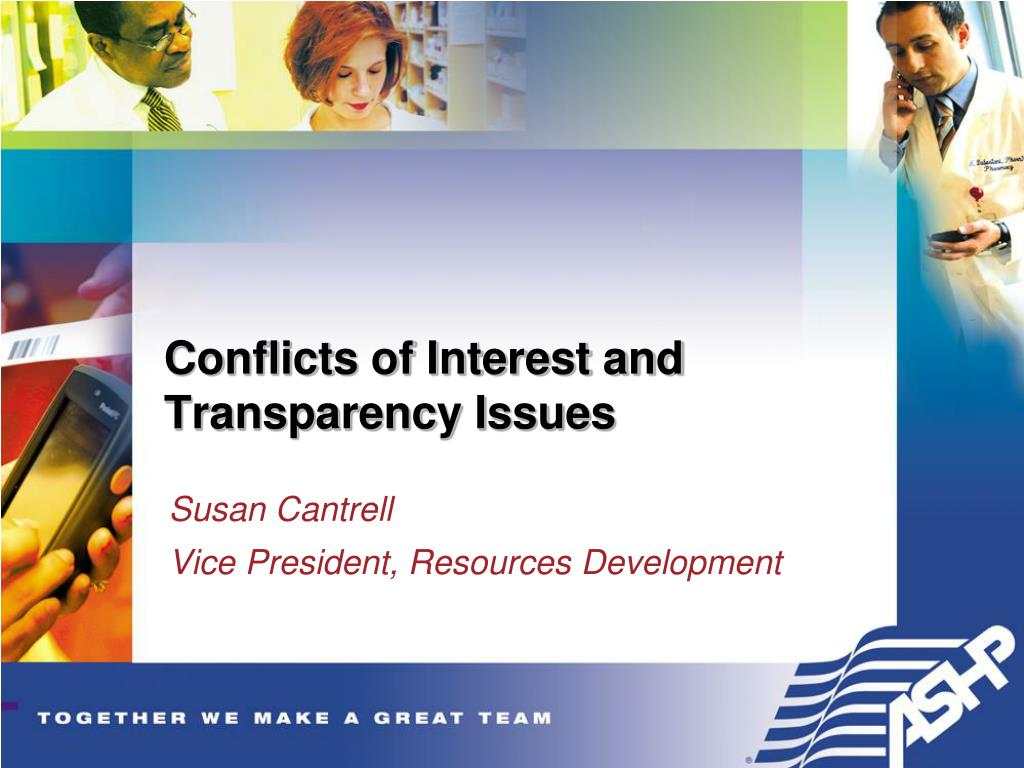 conflicts of interest and transparency issues l.