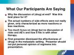 what our participants are saying