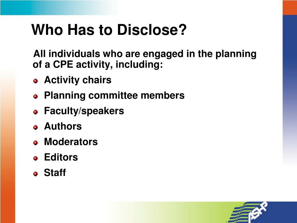 Who Has to Disclose?