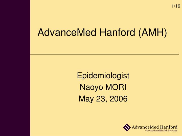 advancemed hanford amh n.