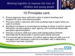 10 principles cont