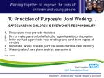 10 principles of purposeful joint working