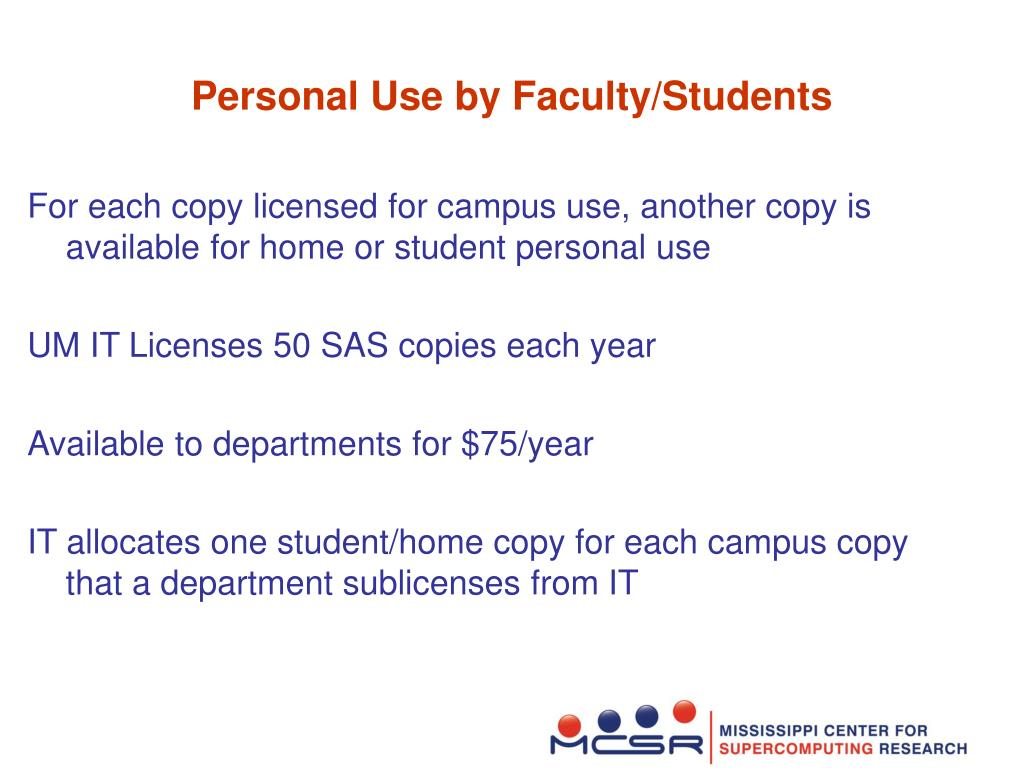 Personal Use by Faculty/Students