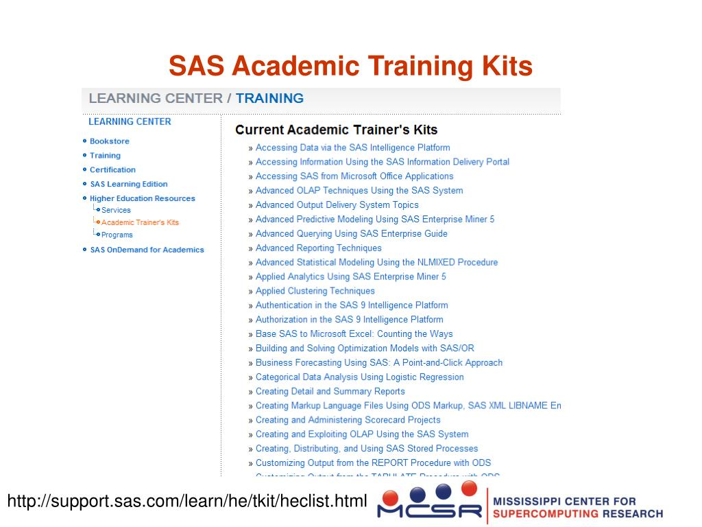 SAS Academic Training Kits