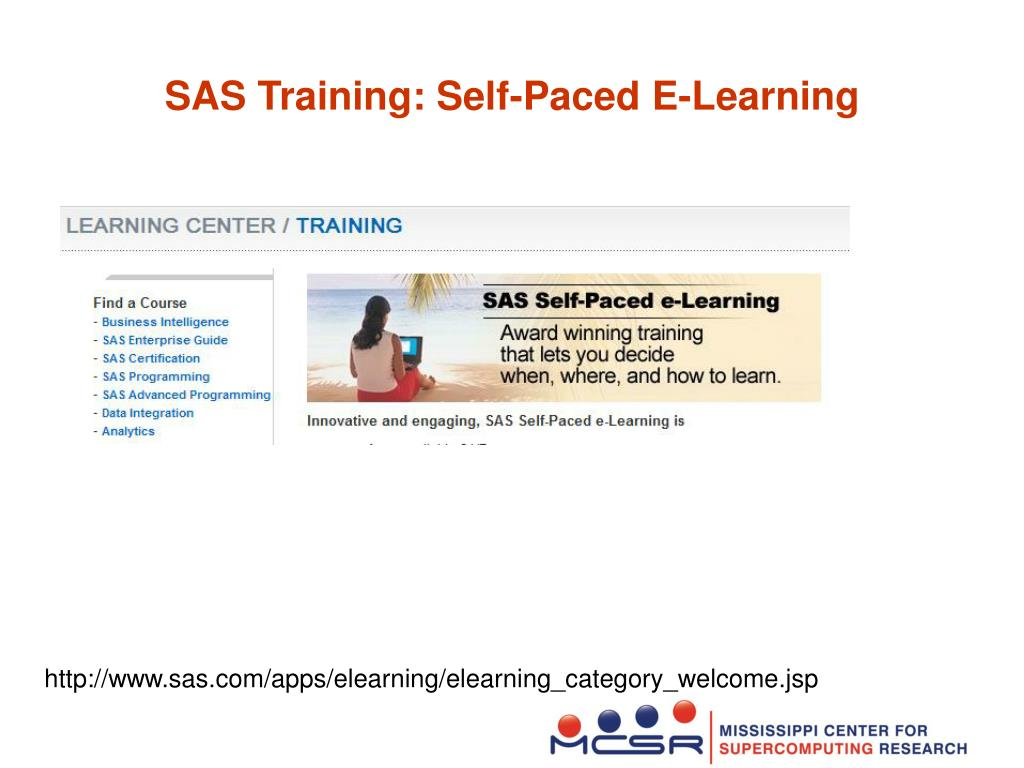 SAS Training: Self-Paced E-Learning