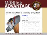 what is the right mix of advertising for my shop
