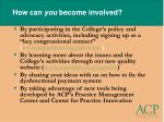 how can you become involved