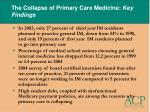 the collapse of primary care medicine key findings26