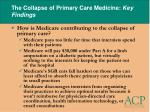 the collapse of primary care medicine key findings27