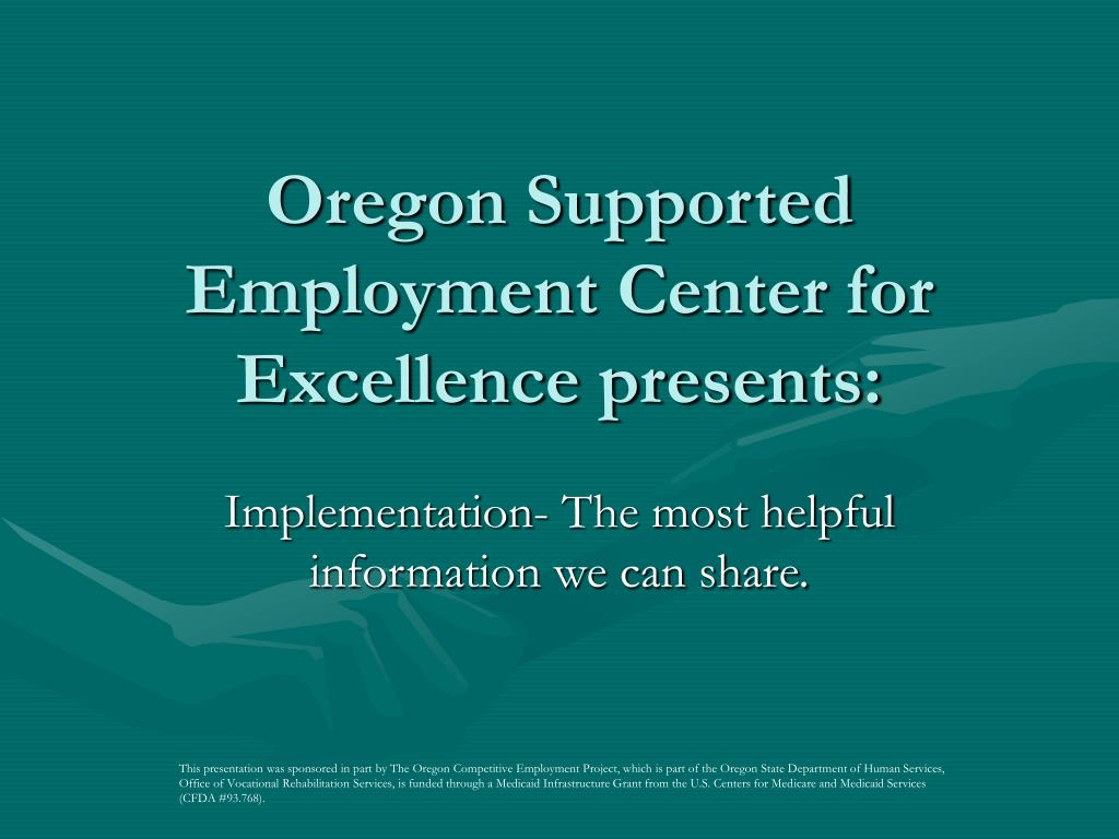 oregon supported employment center for excellence presents l.