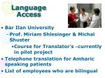language access