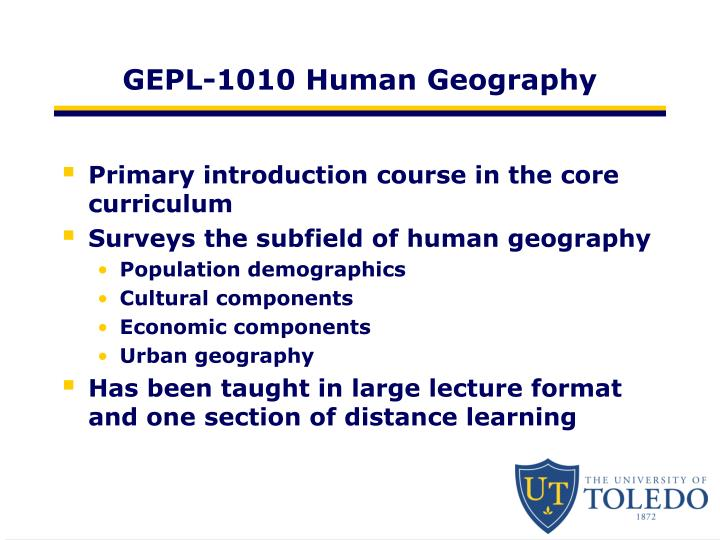 GEPL-1010 Human Geography