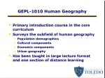 gepl 1010 human geography