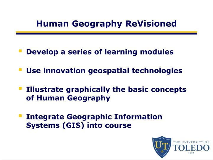 Human Geography ReVisioned