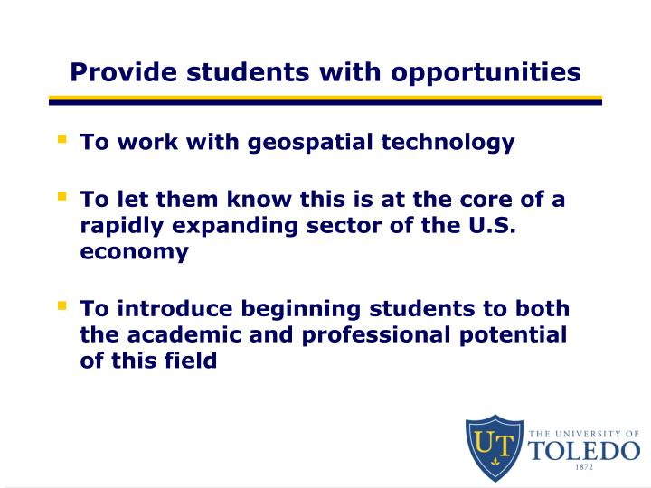 Provide students with opportunities