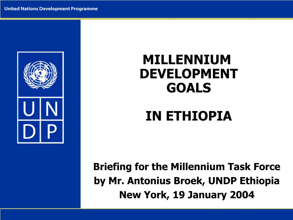 millennium development goals in ethiopia l.