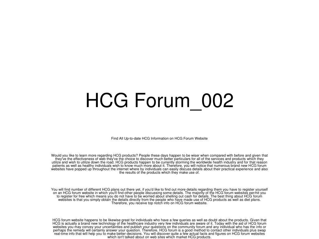 hcg forum 002 l.