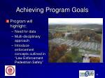 achieving program goals