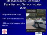 massachusetts pedestrian fatalities and serious injuries 2004