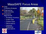 masssafe focus areas