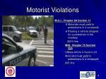 motorist violations