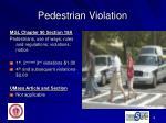 pedestrian violation