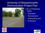 university of massachusetts demonstration project plan