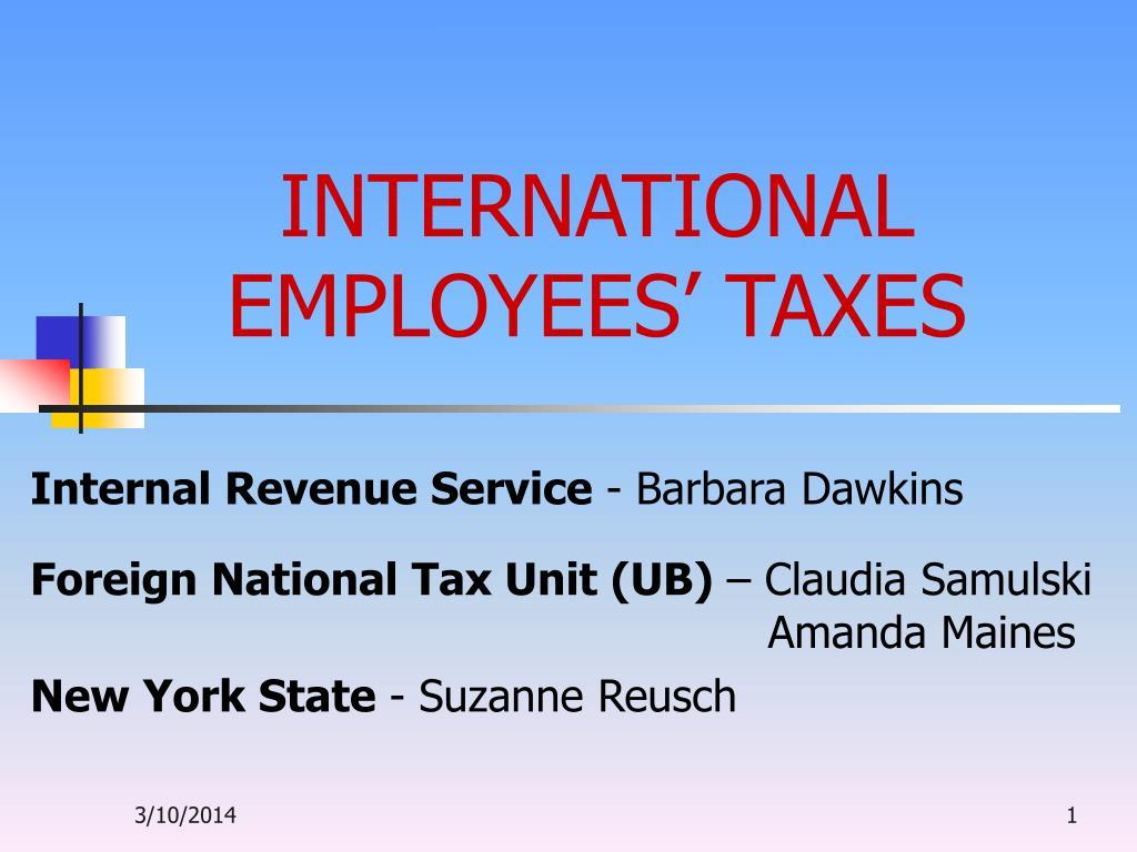 international employees taxes l.