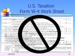 u s taxation form w 4 work sheet