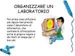 organizzare un laboratorio