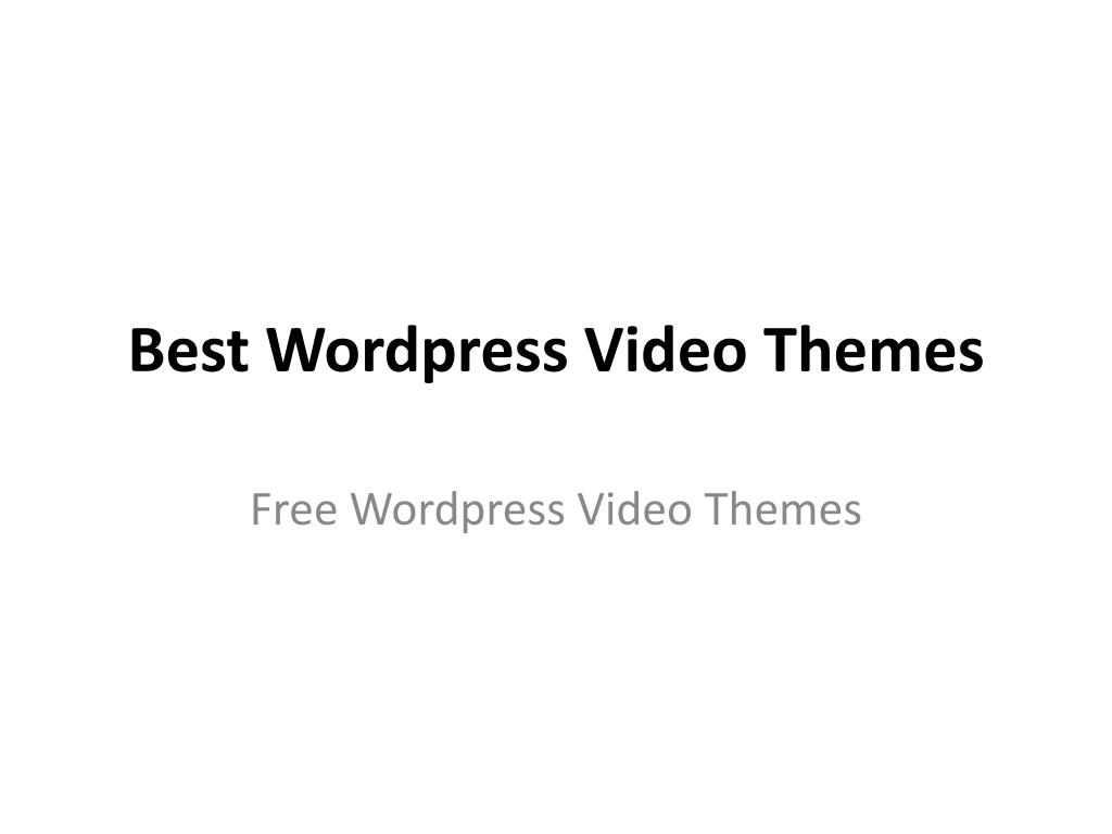 best wordpress video themes l.