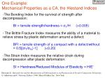one example mechanical properties as a ca the hiestand indices