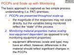 pccps and scale up with monitoring