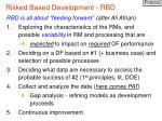 risked based development rbd