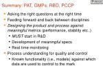 summary pat gmps rbd pccp