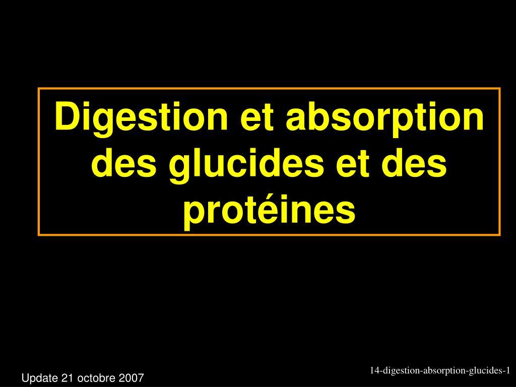 digestion et absorption des glucides et des prot ines l.