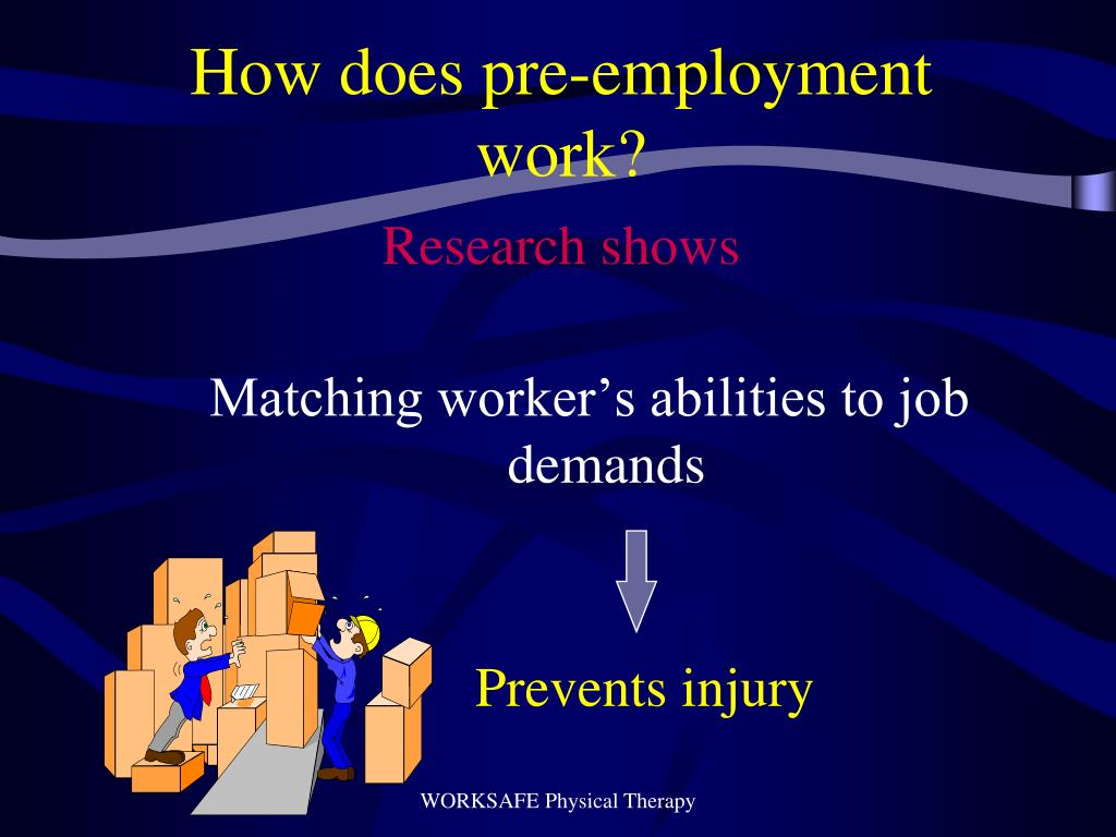 How does pre-employment work?