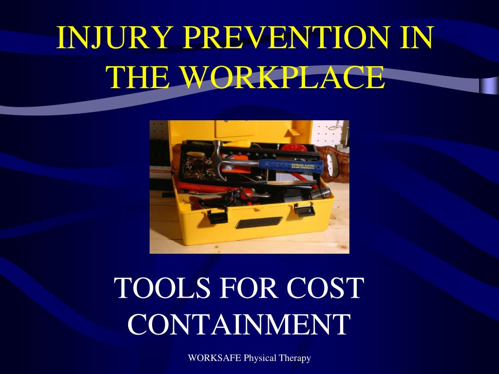 injury prevention in the workplace l.