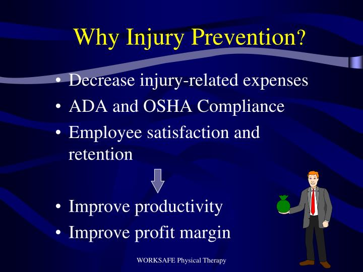 Why injury prevention
