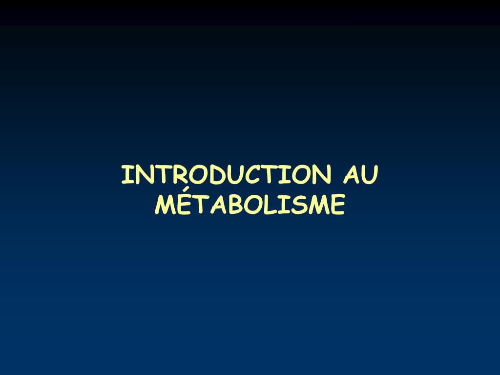 INTRODUCTION AU M