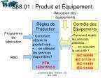 s88 01 produit et quipement