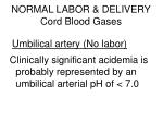 normal labor delivery cord blood gases86