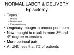 normal labor delivery episiotomy