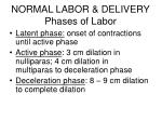 normal labor delivery phases of labor