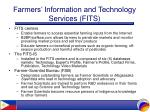 farmers information and technology services fits