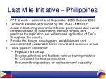 last mile initiative philippines