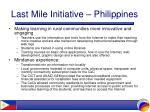 last mile initiative philippines18