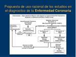 propuesta de uso racional de los estudios en el diagnostico de la enfermedad coronaria