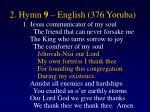 2 hymn 9 english 376 yoruba