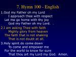 7 hymn 100 english